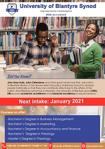 Extension to applications for the  January -June 2021 Semester closes on 25th January 2021